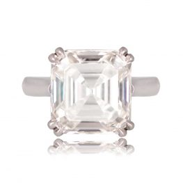 Genesee SB9808 Asscher Cut Diamond Engagement Ring