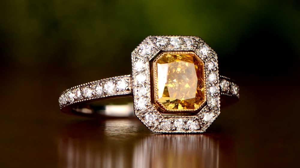 11769 Yellow Diamond Montmartre Ring Artistic
