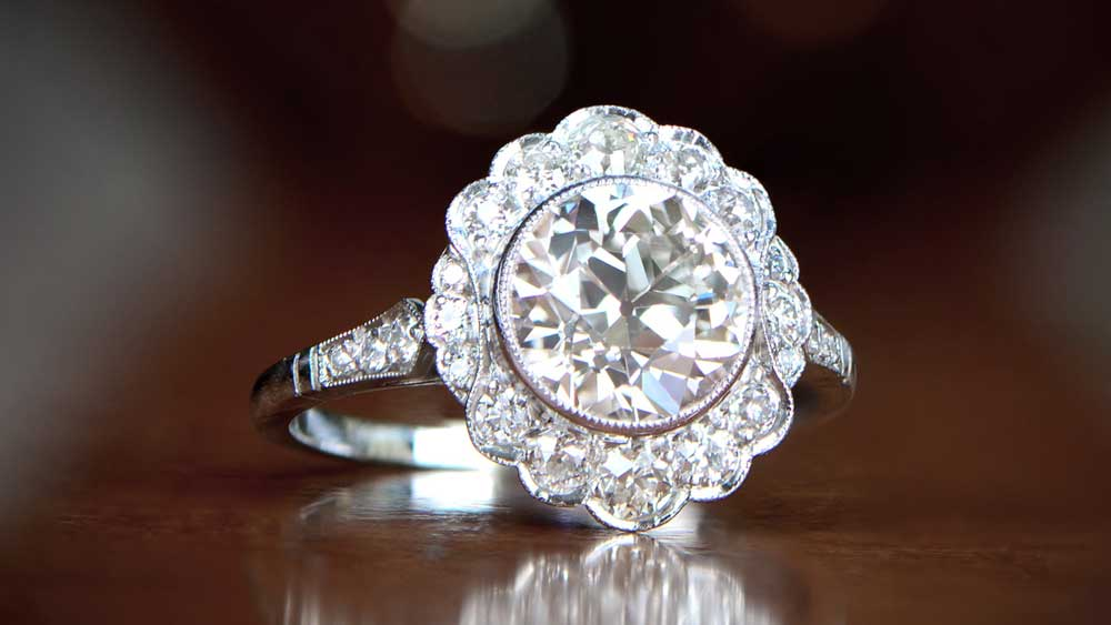 12067 Halo Engagement Ring Artistic