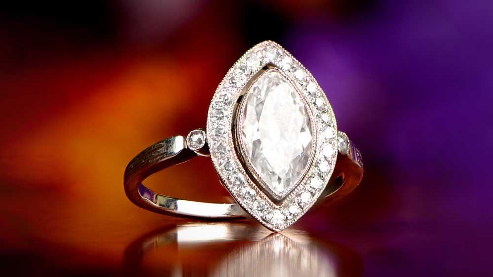 12178 Maruquise Diamond Engagement Ring