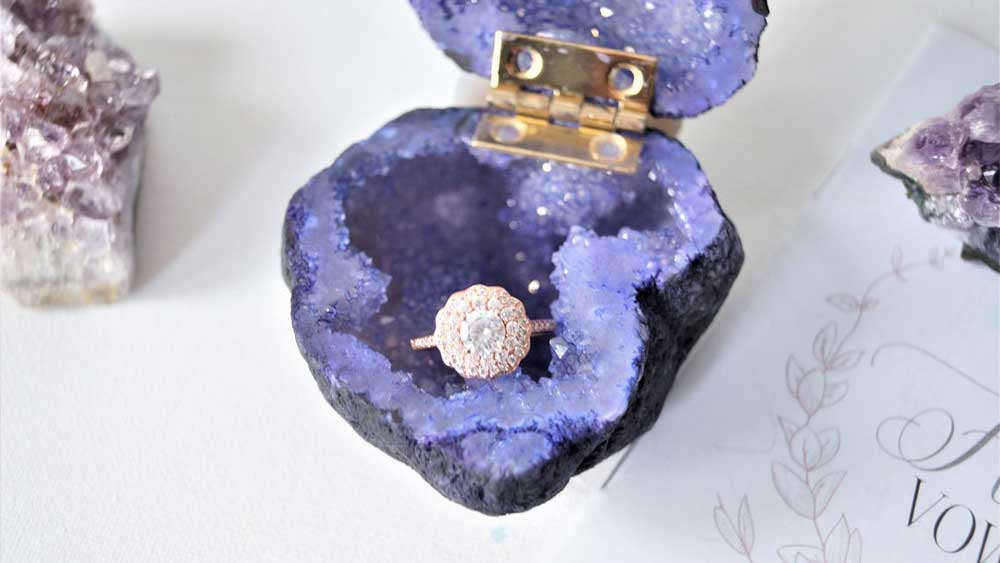 Amethyst Wedding Ring Box