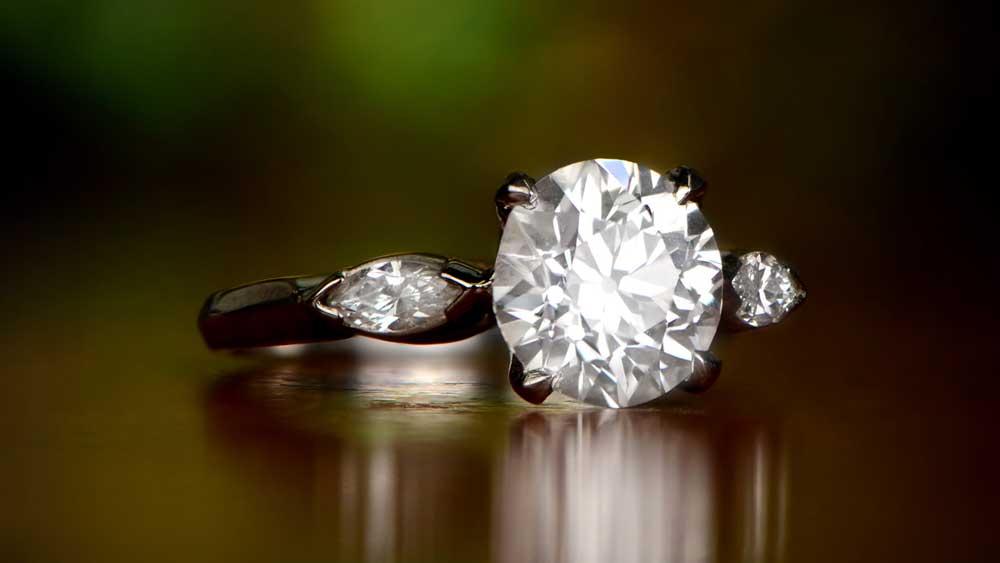Antique Diamond Filigree Ring 10660 Artistic 4