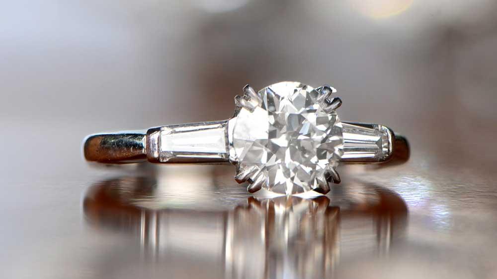BLOG 11941 Old European Cut Diamond Engagement Ring