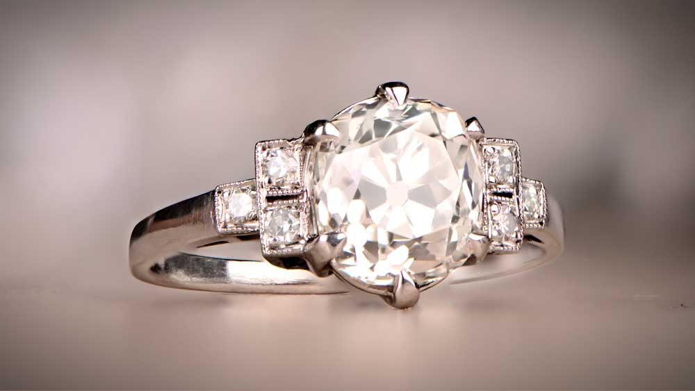 12785 Diamond Engagement Ring in Platinum Mounting