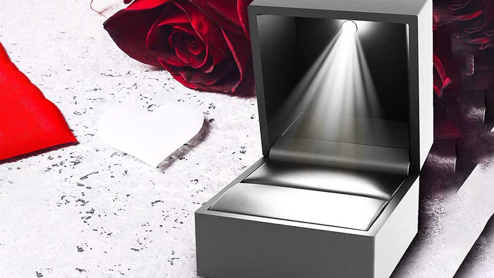 Engagement Ring Box with Light Inside