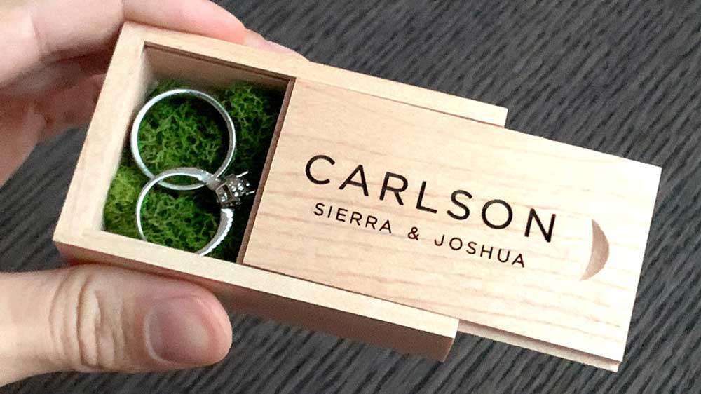 Personalized Engagement Ring Box