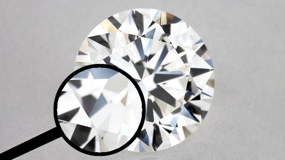 Zoom into Inclusion for VVS2 Diamond