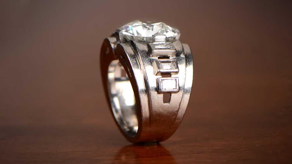 10831 Seven Carat Diamond Engagement Ring
