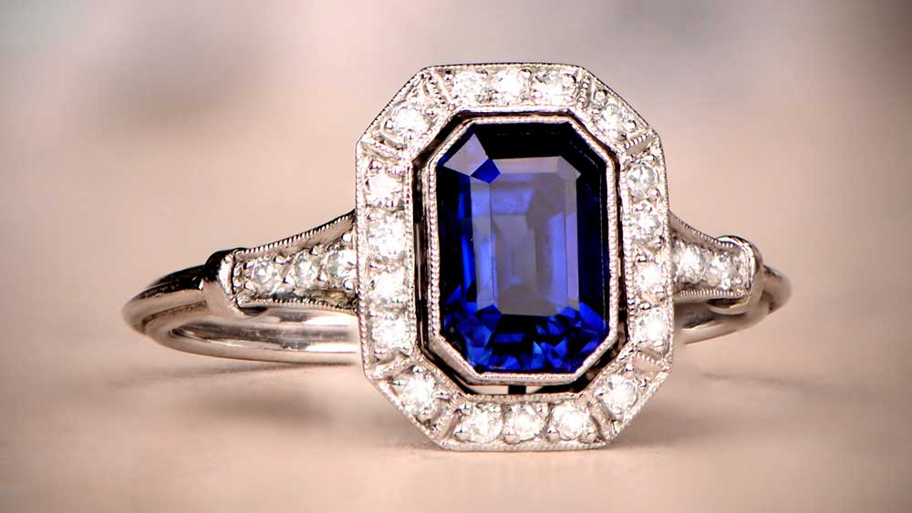 Rare Sapphire Ring from Estate Diamond Jewelry Collection